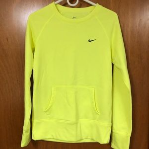 Nike women's bright yellow sweatshirt small